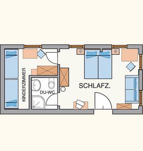 Familienzimmer f r 3 5 personen hotel gut kramerhof for Familienzimmer hamburg 5 personen