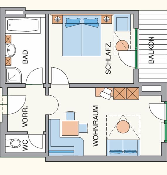 Family Room Floor Plan 40m²
